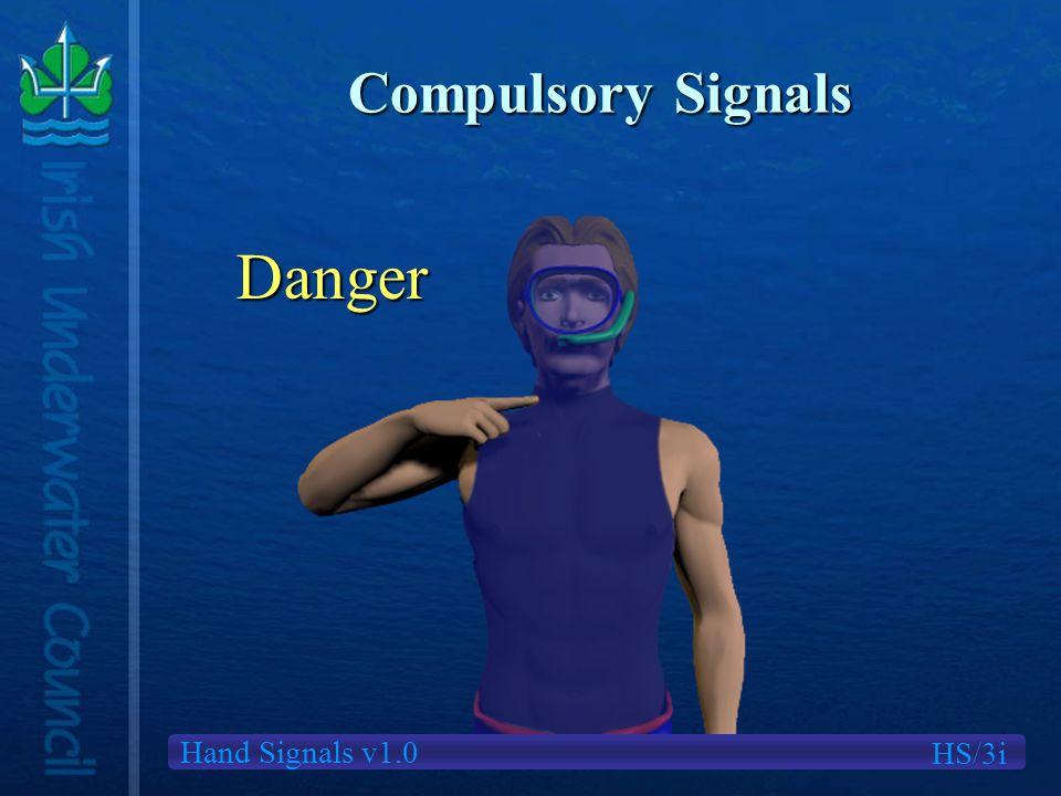 Hand Signals v1.0 Compulsory Signals Danger HS/3i
