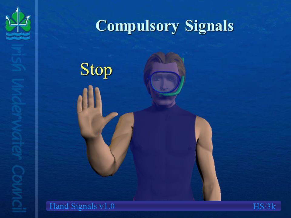 Hand Signals v1.0 Compulsory Signals HS/3k Stop