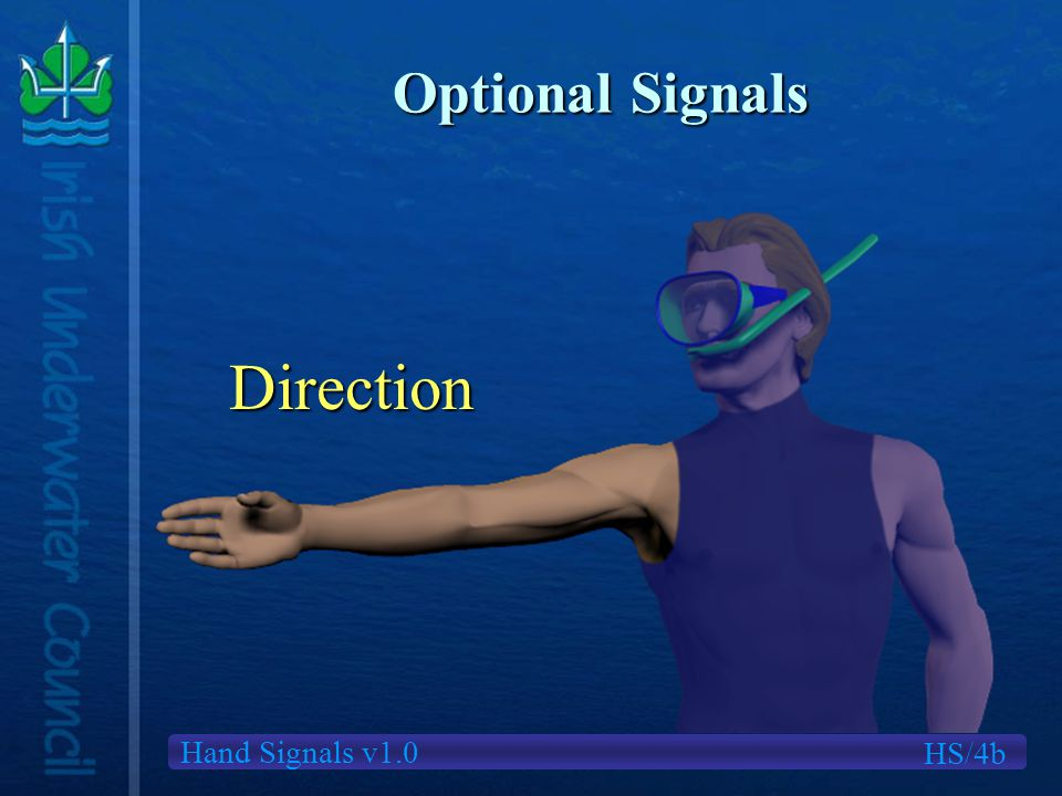 Hand Signals v1.0 Optional Signals Direction HS/4b