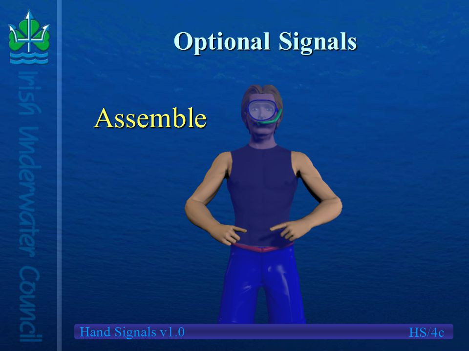Hand Signals v1.0 Optional Signals Assemble HS/4c