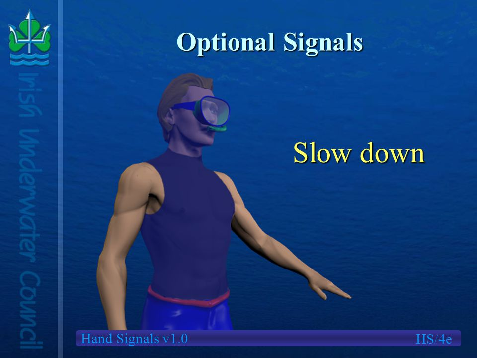 Hand Signals v1.0 Optional Signals HS/4e Slow down