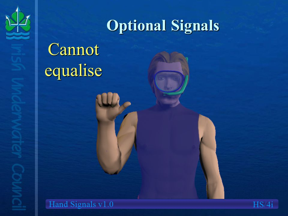 Hand Signals v1.0 Optional Signals HS/4i Cannotequalise