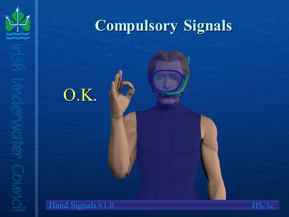 Hand Signals v1.0 Compulsory Signals HS/3c O.K.
