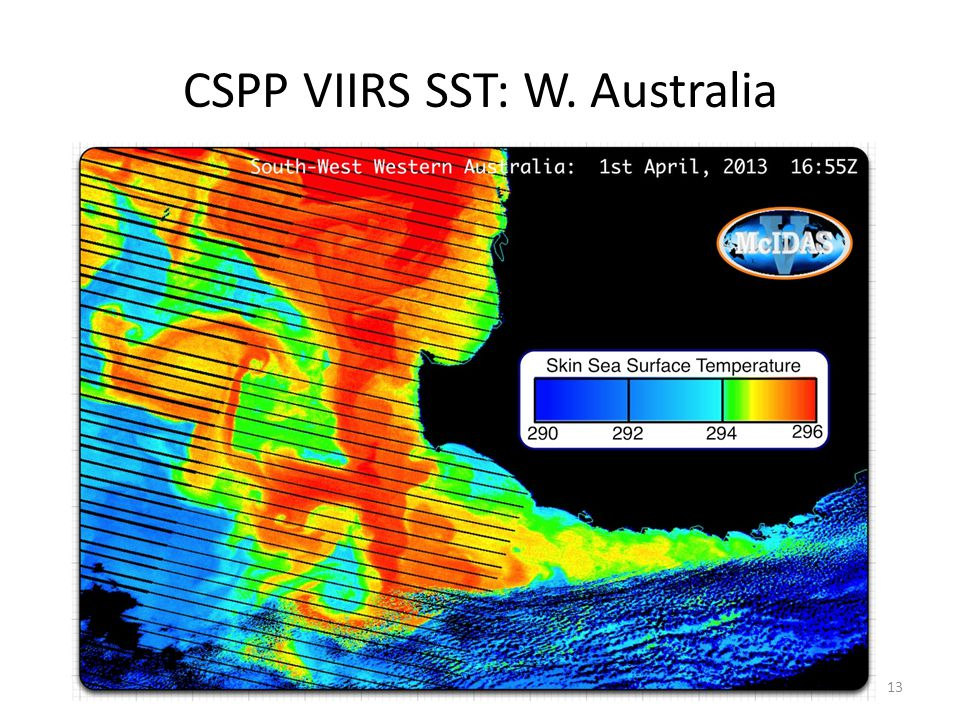 CSPP VIIRS SST: W. Australia 13
