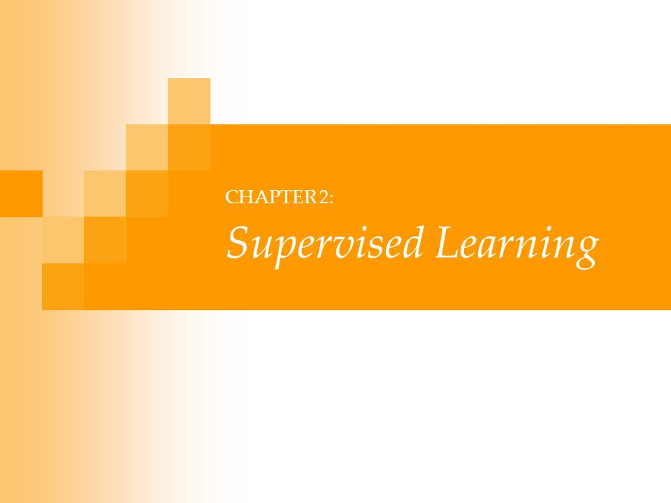 Lecture Notes for E Alpaydın 2004 Introduction to Machine Learning © The MIT Press (V1.1) 12 Regression