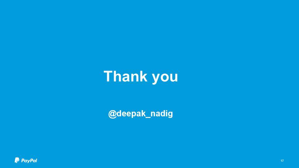 Thank you @deepak_nadig 17