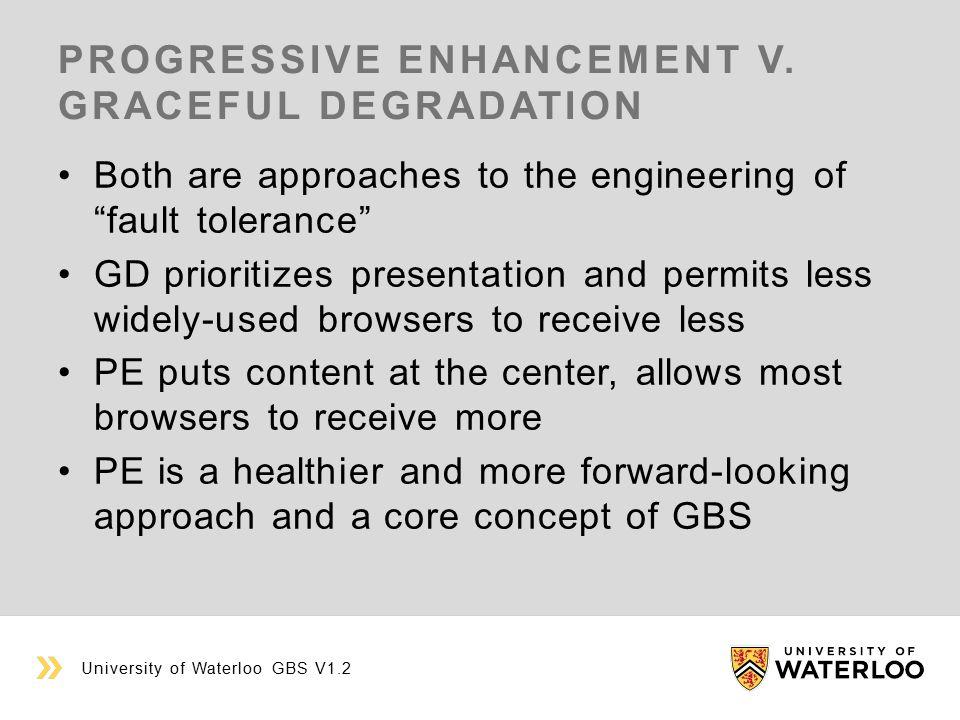 PROGRESSIVE ENHANCEMENT V.