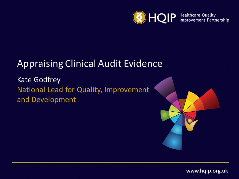 www.hqip.org.uk Appraising Clinical Audit Evidence Kate Godfrey National Lead for Quality, Improvement and Development
