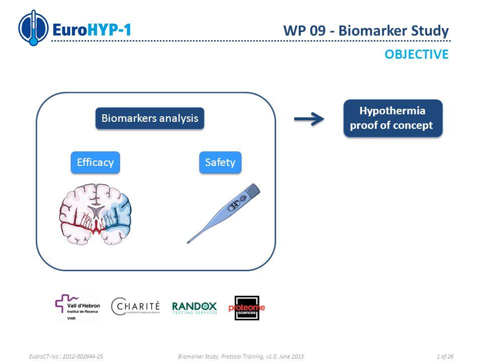 WP 09 - Biomarker Study SAMPLE SHIPMENT Record sample shipment on the eCRF EudraCT-No.: 2012-002944-25Biomarker Study, Protocol Training, v1.0, June 201322 of 26