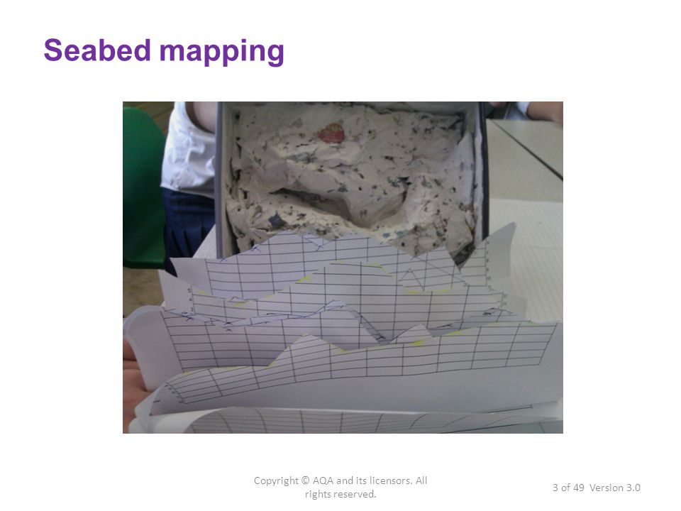 Seabed mapping 3 of 49 Version 3.0 Copyright © AQA and its licensors. All rights reserved.
