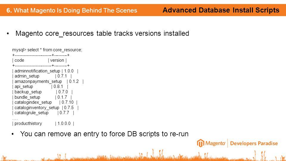 Advanced Database Install Scripts 6.