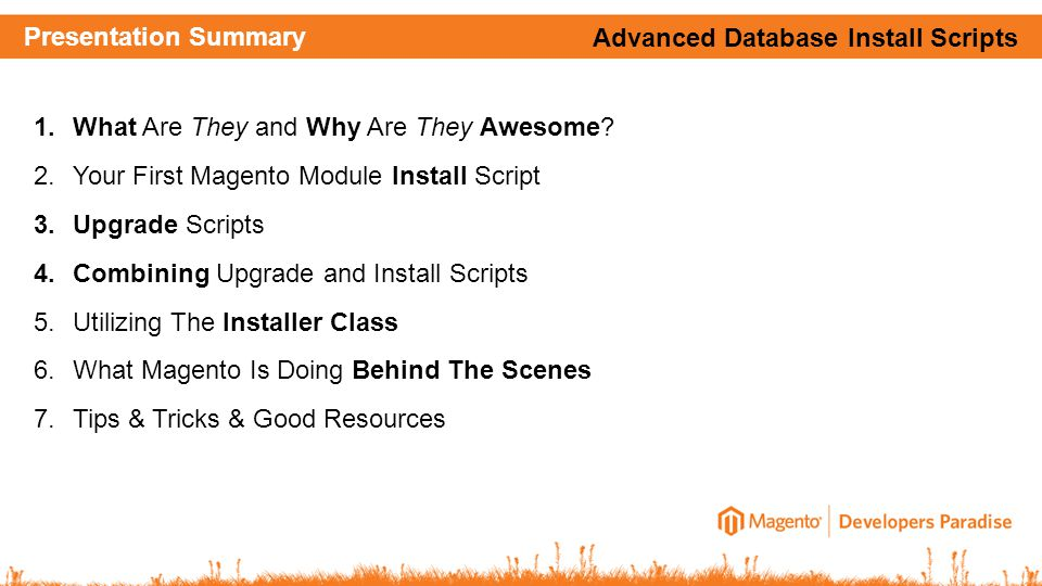 Presentation Summary 1.What Are They and Why Are They Awesome.