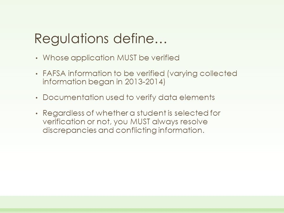 FAA Access 2015-2016 FAAs are able to enter SSNs/Name ID/ Verification Results from a dropdown menu on this page Click Enter More Results and enter additional ones or Results Entry Complete if done.