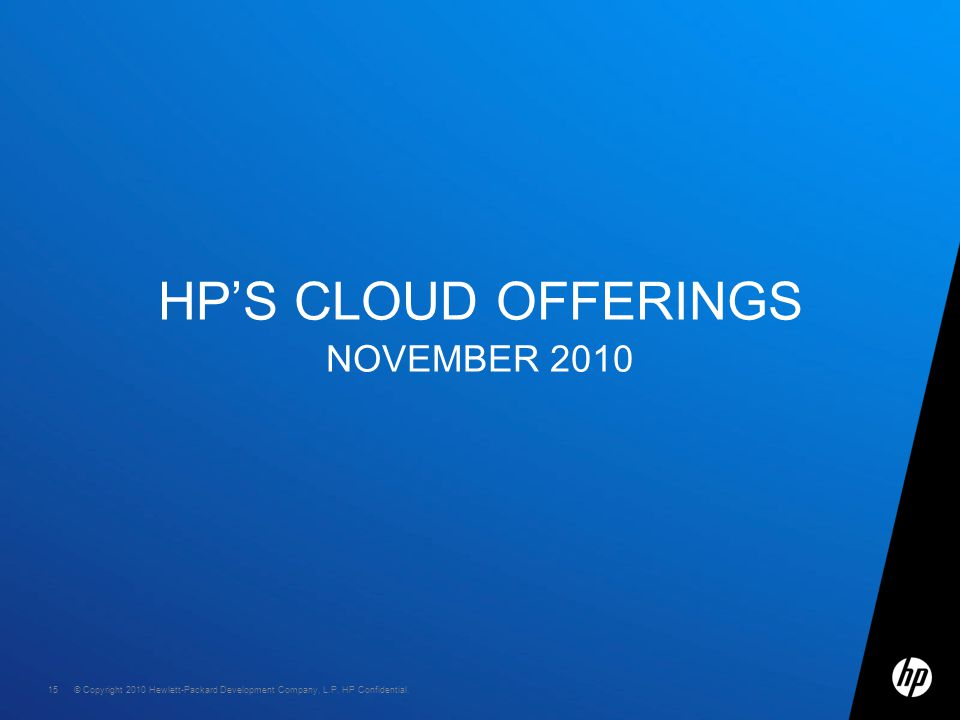 © Copyright 2010 Hewlett-Packard Development Company, L.P.