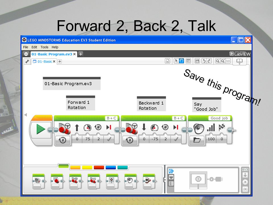 Forward 2, Back 2, Talk Save this program!