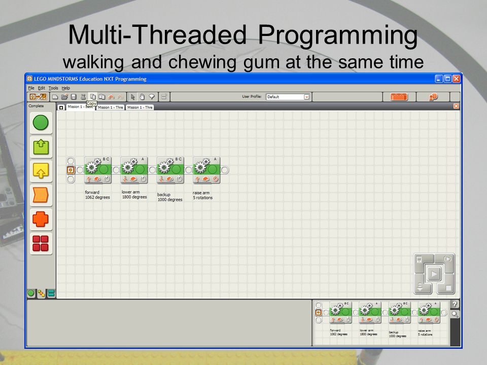 Multi-Threaded Programming walking and chewing gum at the same time