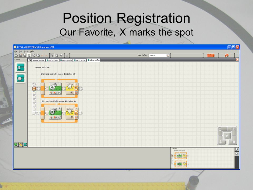 Position Registration Our Favorite, X marks the spot