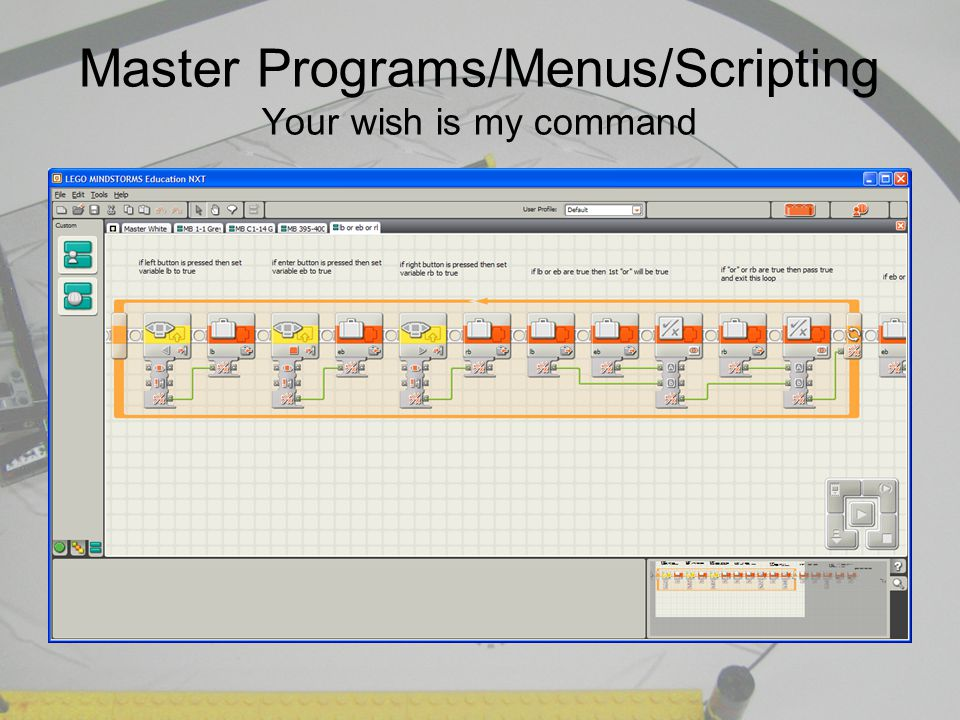 Master Programs/Menus/Scripting Your wish is my command