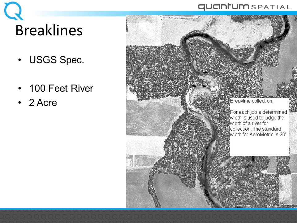 Breaklines USGS Spec. 100 Feet River 2 Acre