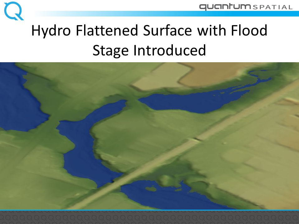 Hydro Flattened Surface with Flood Stage Introduced