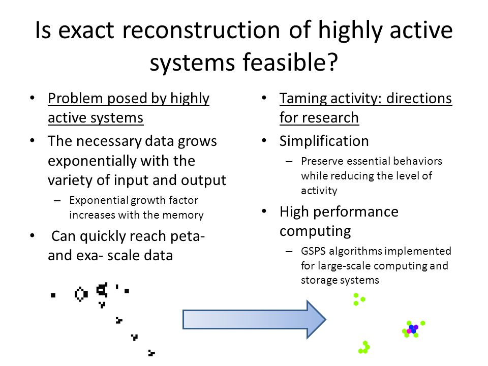 Is exact reconstruction of highly active systems feasible.