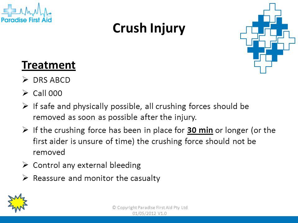 © Copyright Paradise First Aid Pty Ltd 01/05/2012 V1.0 Internal Bleeding