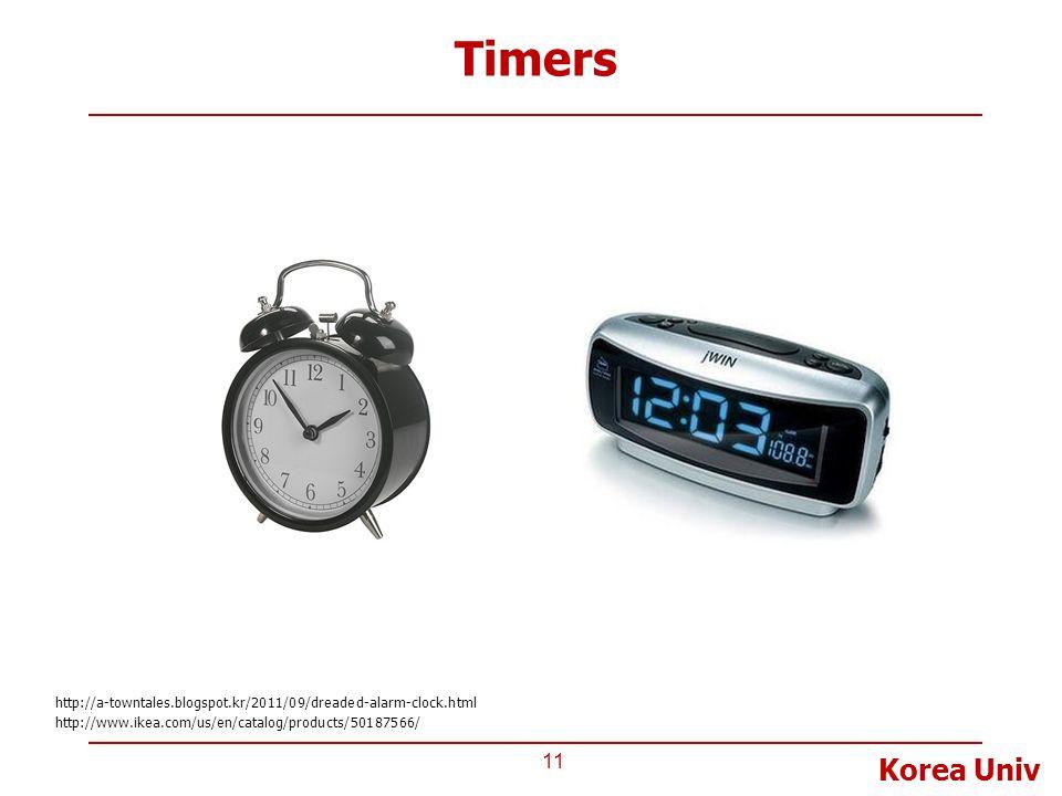 Korea Univ Timers 11 http://www.ikea.com/us/en/catalog/products/50187566/ http://a-towntales.blogspot.kr/2011/09/dreaded-alarm-clock.html