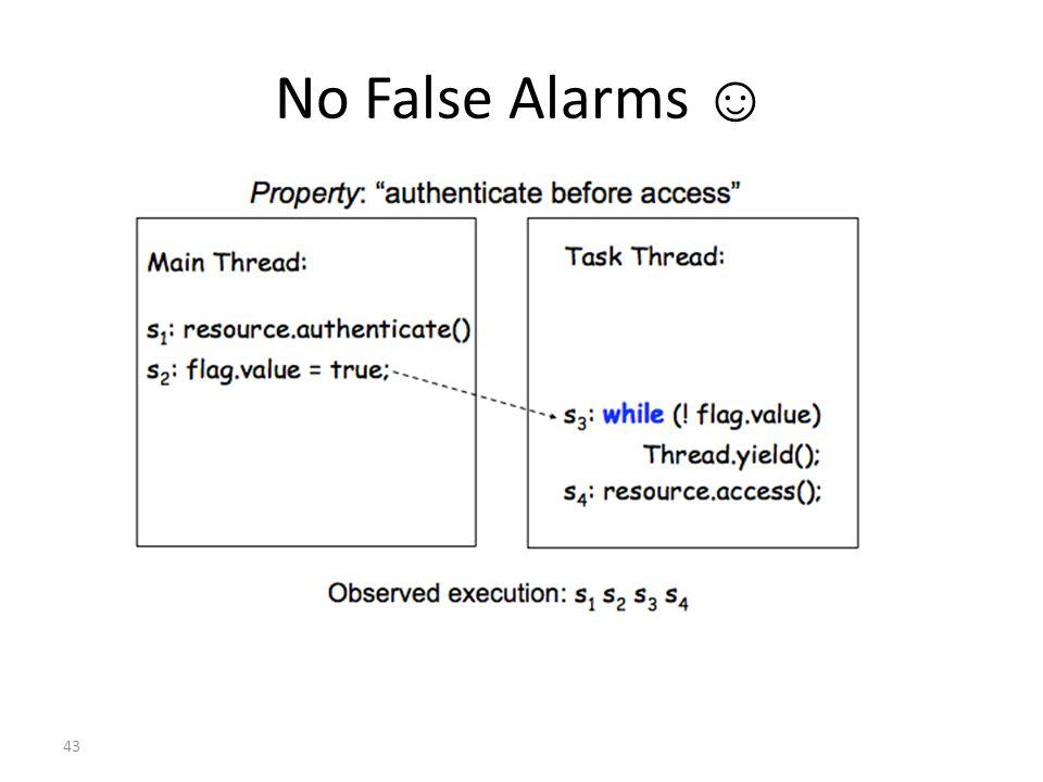 43 No False Alarms ☺
