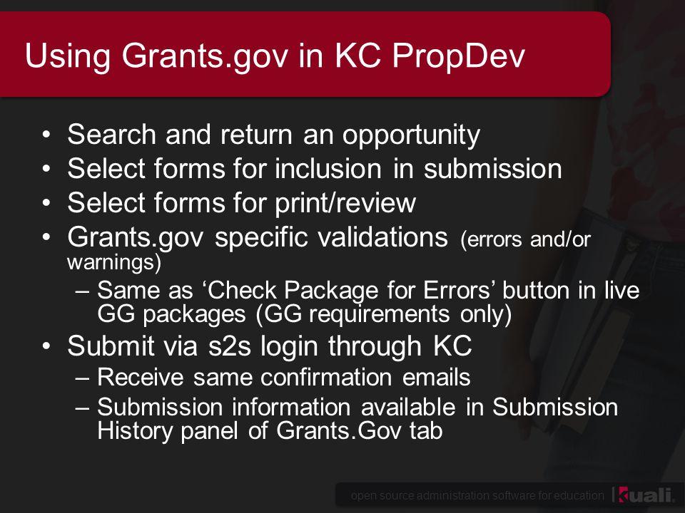 open source administration software for education Using Grants.gov in KC PropDev Demo of Grants.gov in KC