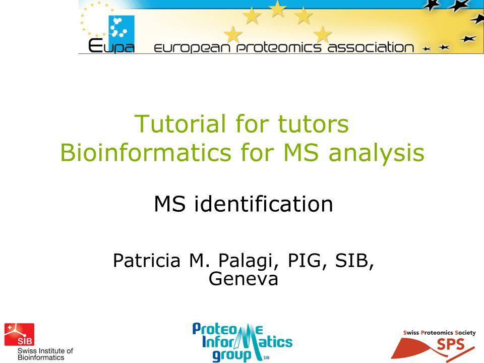 PMP Part One: Understanding MS data