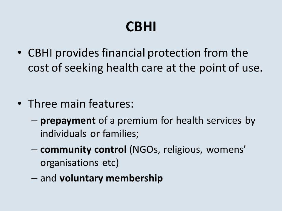 Rapid growth of CBHI schemes Source : Inventaires de la Concertation (www.concertation.org)