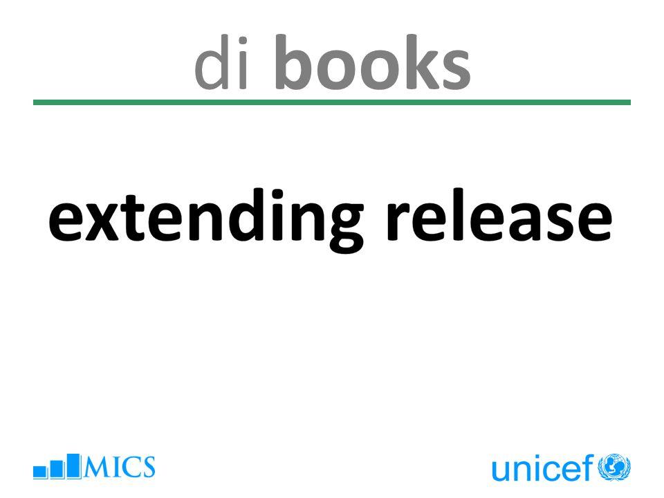 di books extending release