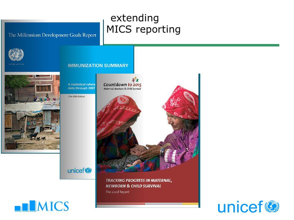 extending MICS reporting