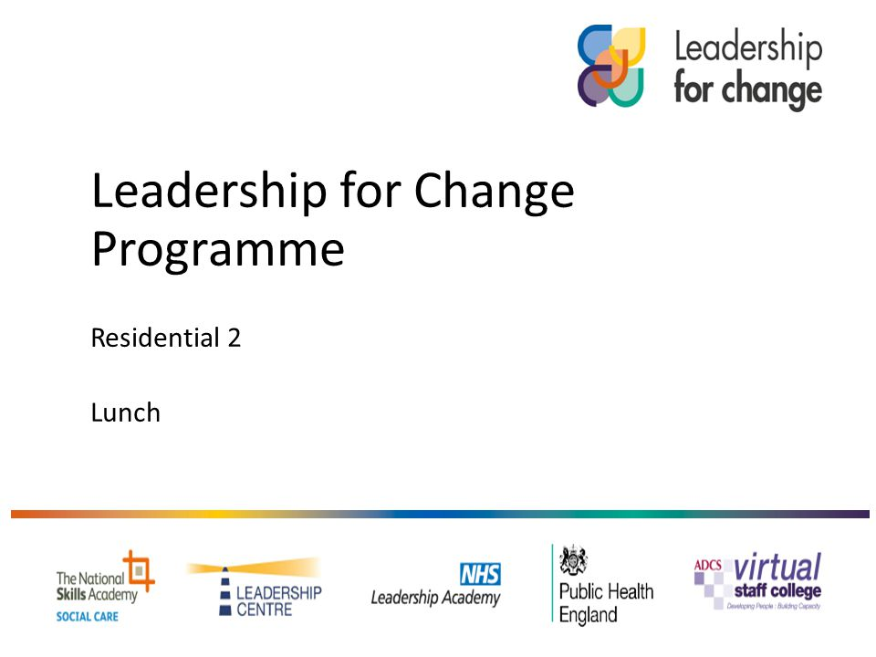 Leadership for Change Programme Residential 2 Lunch