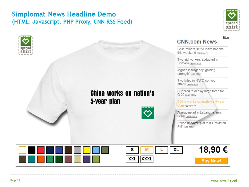 Simplomat News Headline Demo (HTML, Javascript, PHP Proxy, CNN RSS Feed) Page 21 your own label