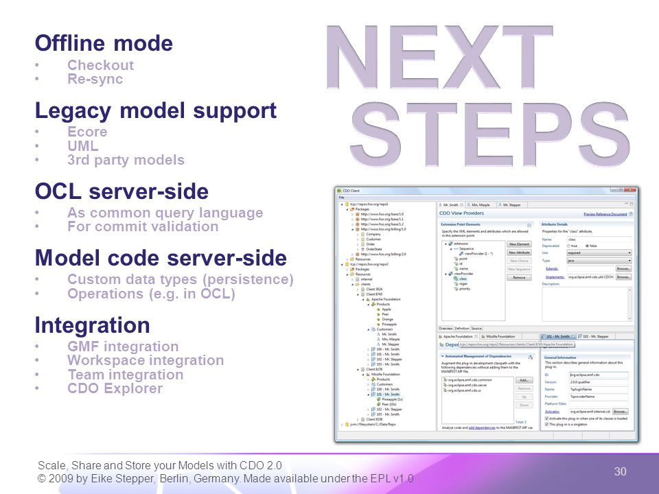 Scale, Share and Store your Models with CDO 2.0 © 2009 by Eike Stepper, Berlin, Germany.
