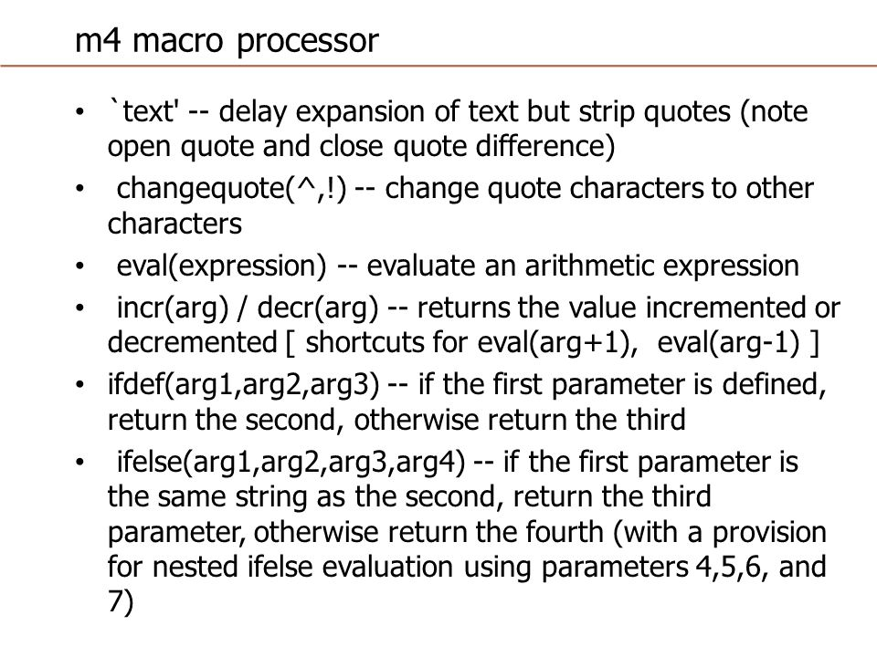 Macros in ARM The ARM assembler will replace the macro name with its definition.
