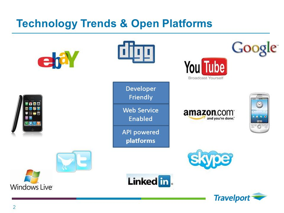 Technology Trends & Open Platforms 2 Developer Friendly Web Service Enabled API powered platforms