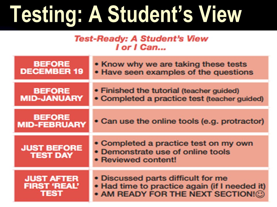 Testing: A Student's View
