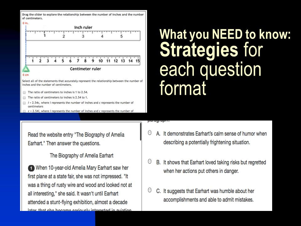What you NEED to know: Strategies for each question format