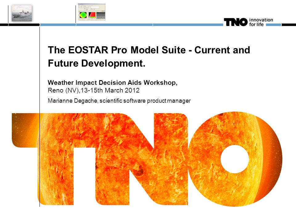 Outline 1.EOSTAR Pro : from research to product development – v1.x 2.Upgrades for EOSTAR Pro suite v2.x 3.Scientific and modelling challenges of interest 4.Current availability and future releases WIDA 3/15/2012 Eostar Pro suite v2 2