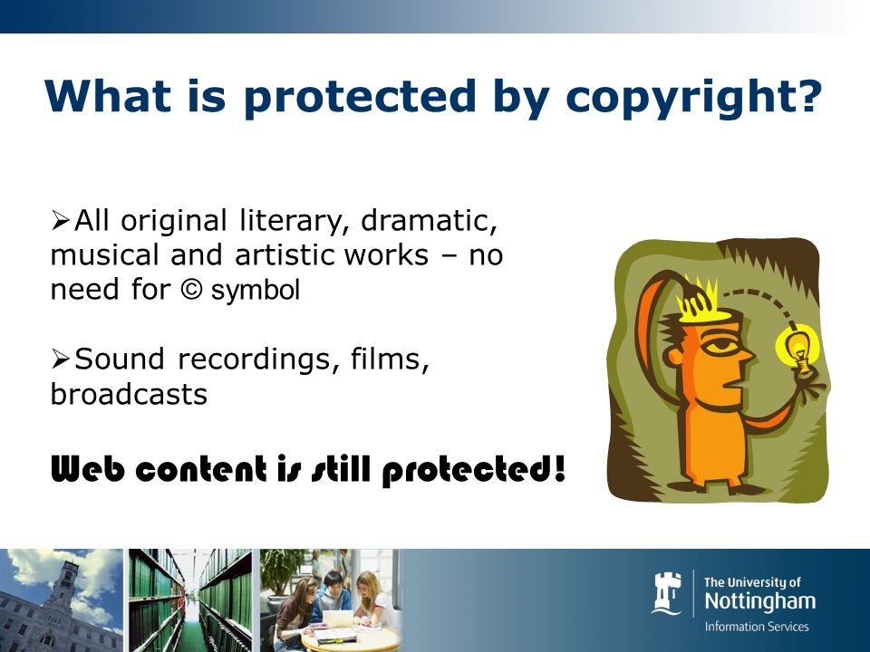 What is protected by copyright.