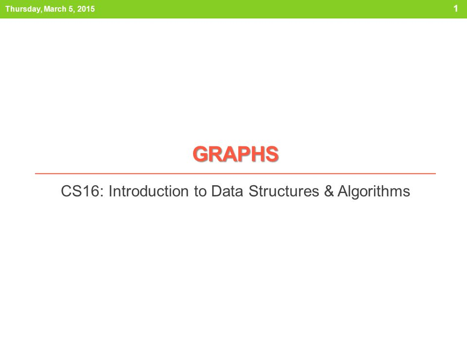Outline 1) What is a graph.