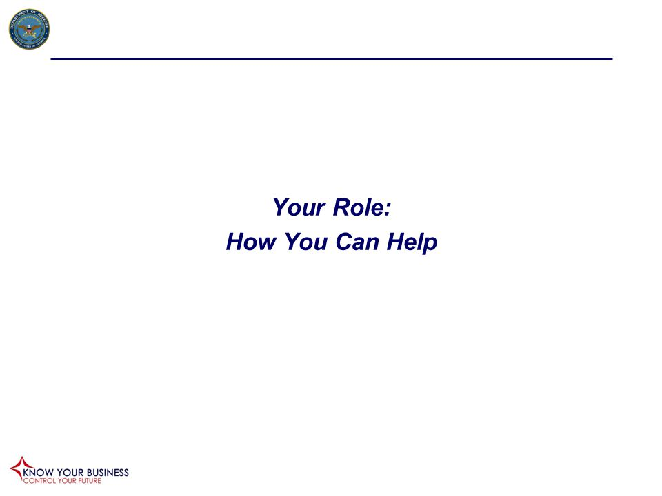 Your Role: How You Can Help