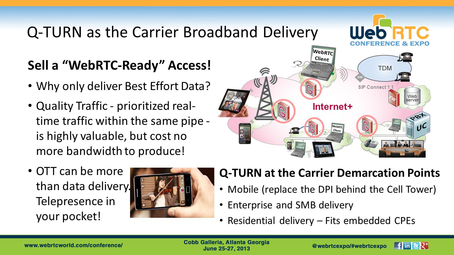Q-TURN as the Carrier Broadband Delivery Sell a WebRTC-Ready Access.