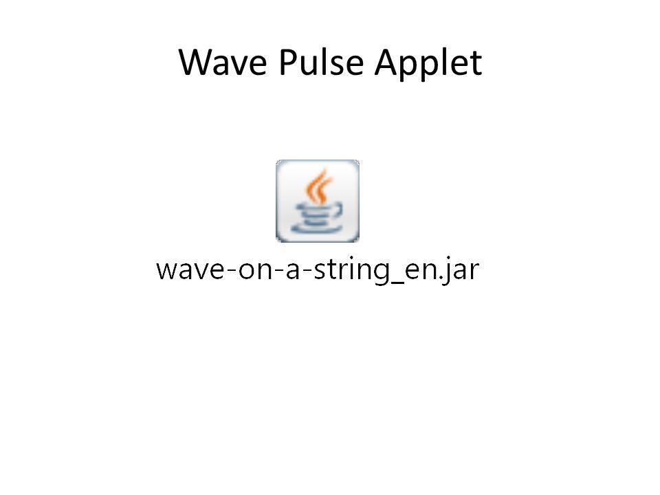 Wave Pulse Applet