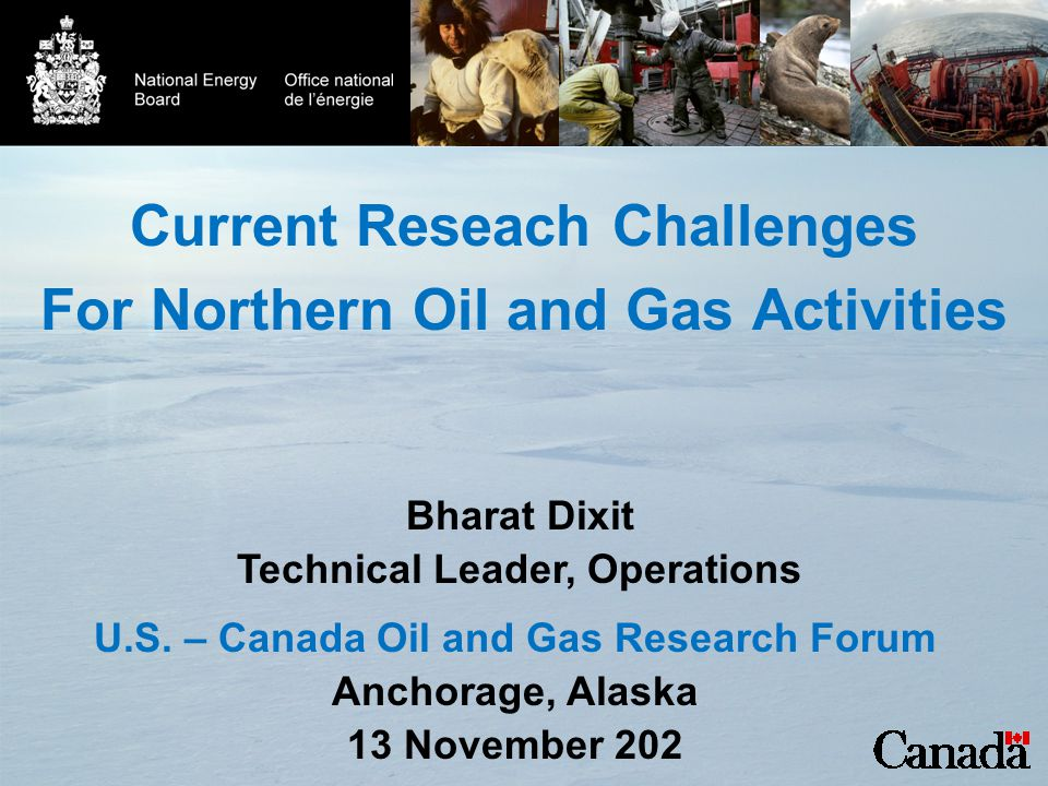 Current Reseach Challenges For Northern Oil and Gas Activities U.S.