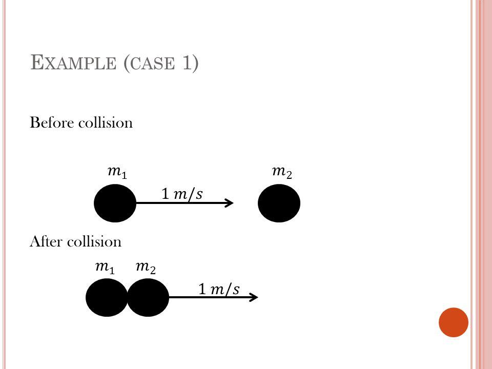 E XAMPLE ( CASE 1)