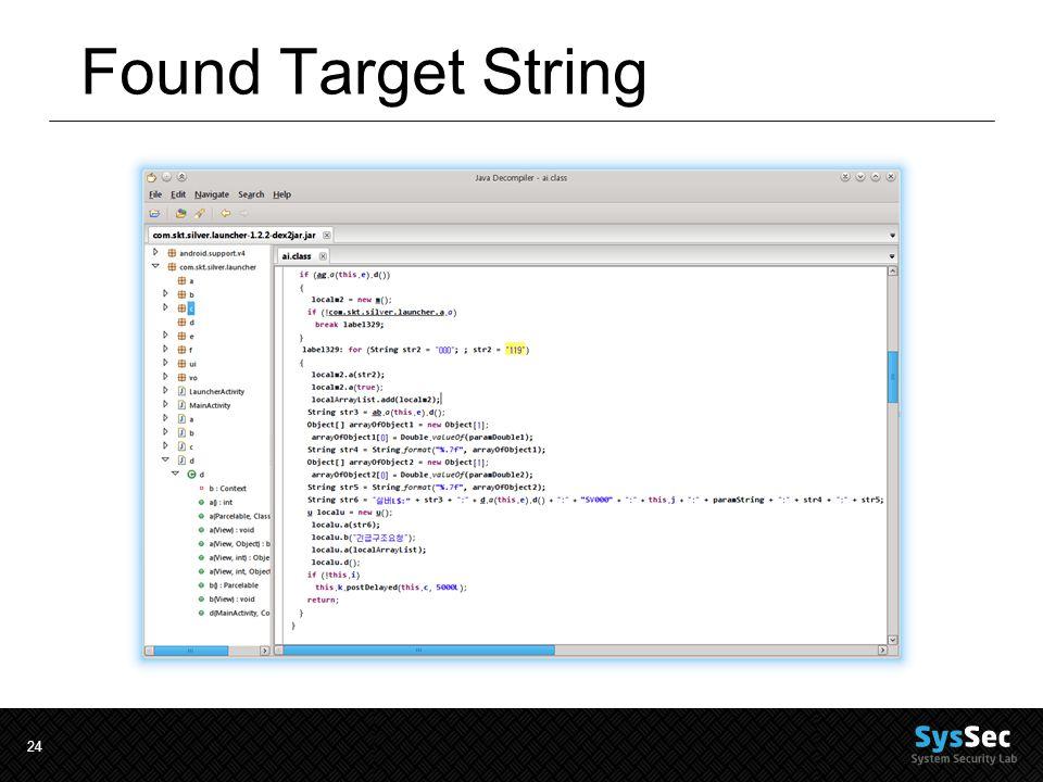 24 Found Target String
