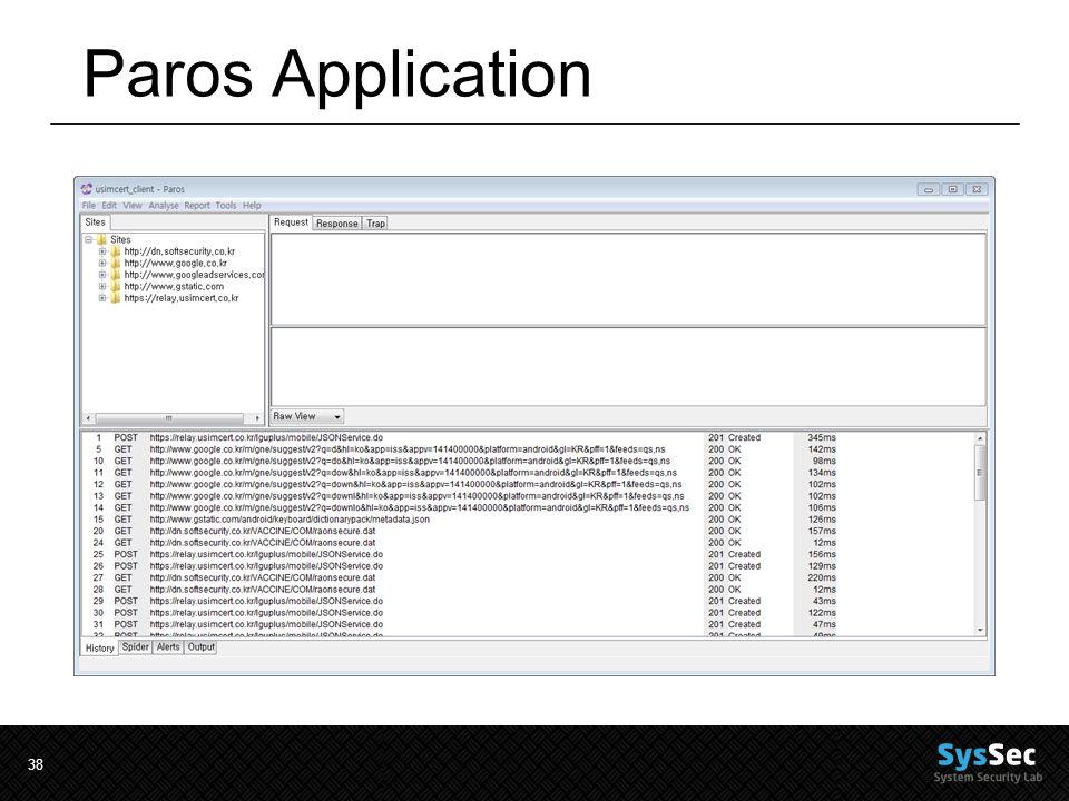 38 Paros Application
